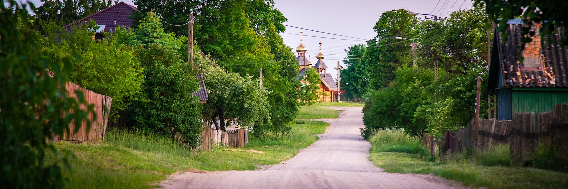 Panorama wsi puszczańskiej - Wieś Podlaska