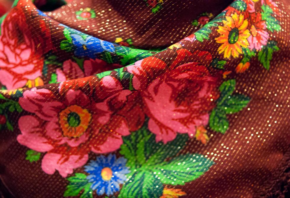 kolorowa chusta